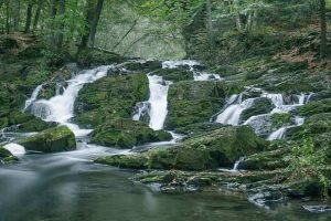 Hiking in the Harz Mountains - Selke Falls in the Selketal valley
