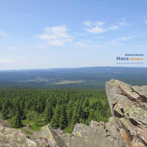 Wandern im Harz - Blick von der Wolfswarte