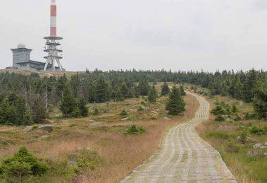 Het Brocken - weerstation op de top