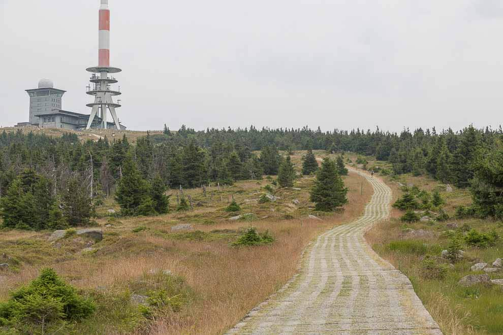 The Brocken - weather station on the summit