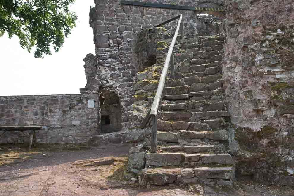 Castles in the Harz Mountains - Hohnstein Castle Ruins