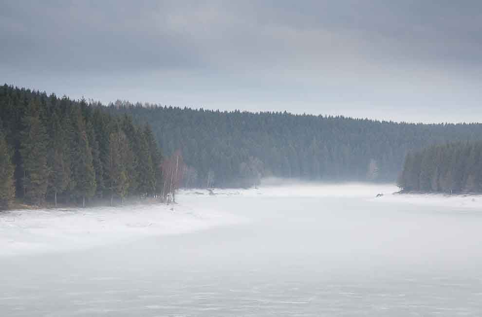 Reservoirs in the Harz Mountains - Mandelholz Reservoir